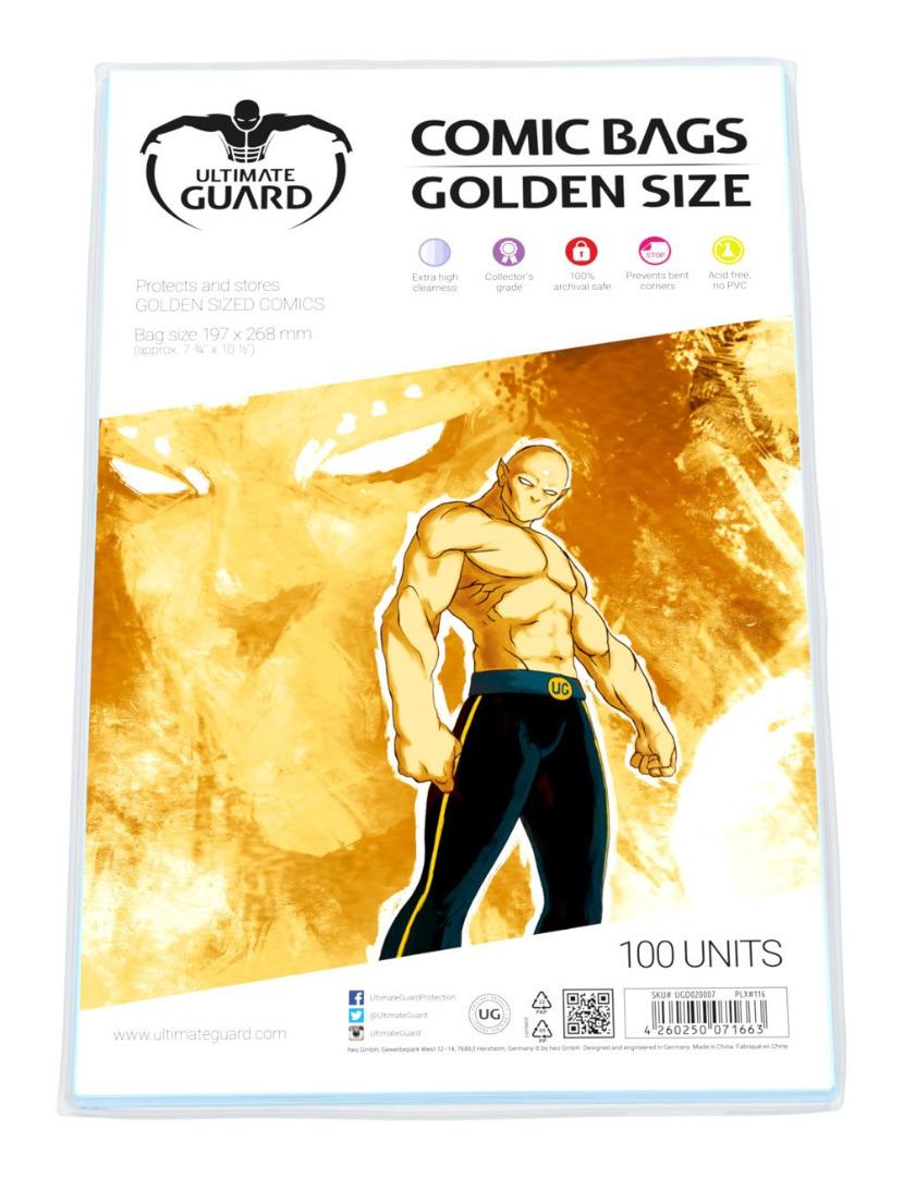 Pack de 100 Unidades Ultimate Guard Comic Bags Golden Size