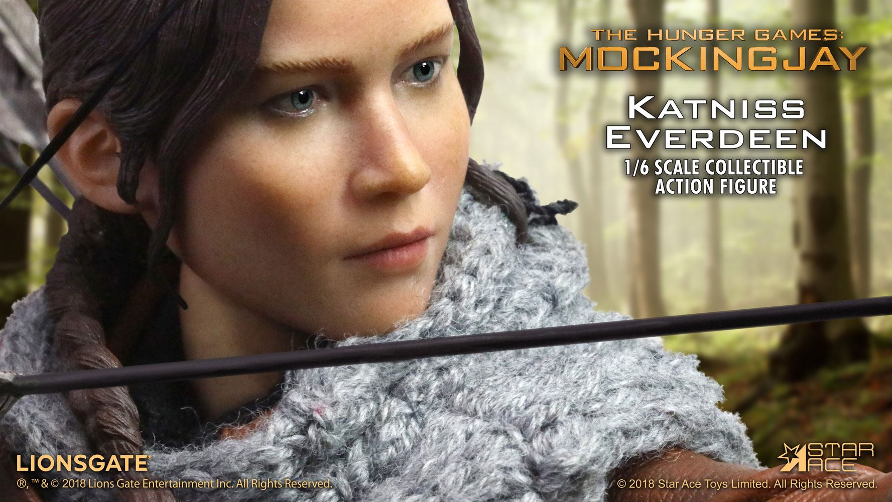 The Hunger Games Catching Fire MFM AF 1/6 Katniss Everdeen Hunting 30 cm
