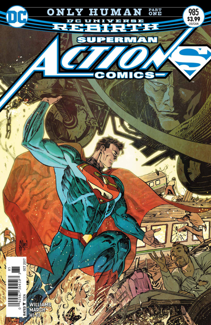DC Comics- Superman Only Human Rebirth  Part 1 #985 (oferta capa protetora)