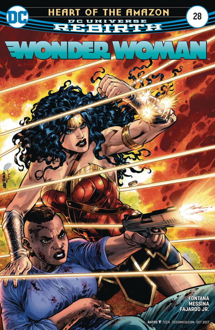 DC Comics- Heart of the Amazon Rebirth Wonder Woman #28 (oferta capa prot.)