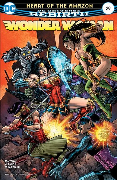 DC Comics - Heart of the Amazon Wonder Woman #29 (oferta capa protetora)