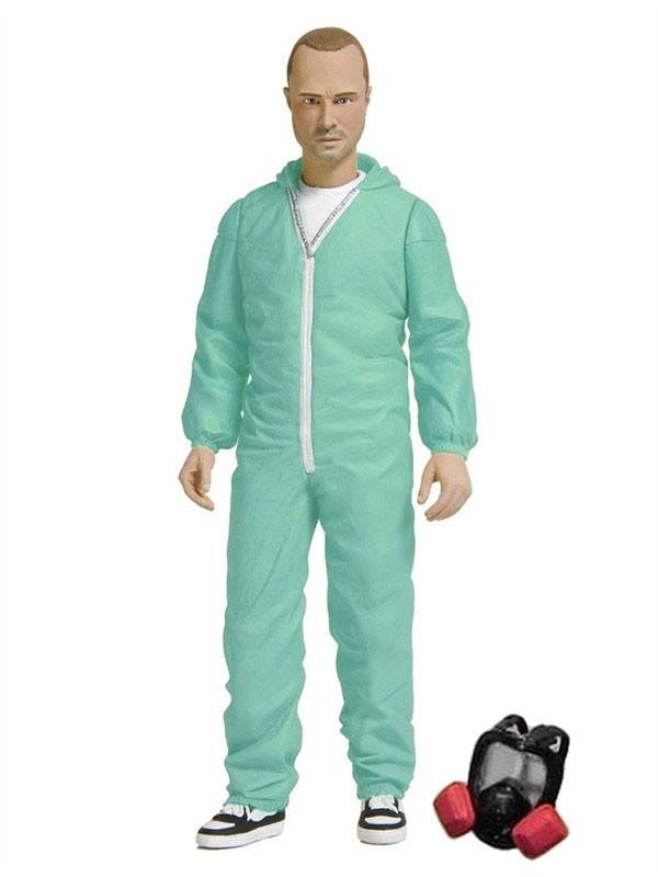 Breaking Bad Action Figure Jesse Pinkman in Blue Hazmat Suit Exclus. 15 cm