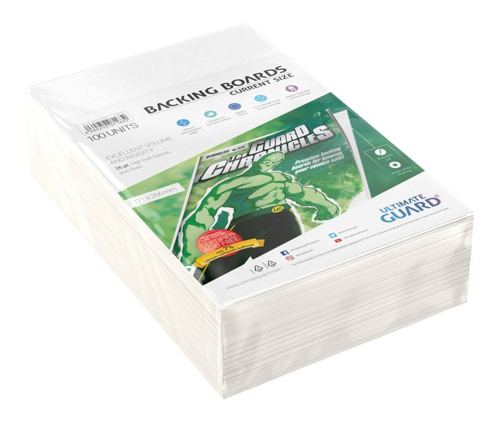 Ultimate Guard Comic Backing Boards Current Size (Pack de 10 Unidades)
