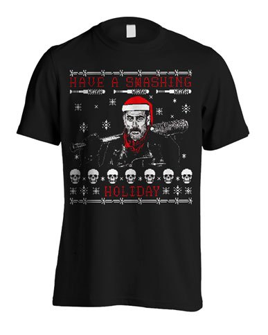 T-Shirt Walking Dead Christmas Negan Tamanho L
