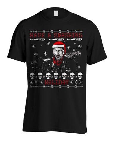T-Shirt Walking Dead Christmas Negan Tamanho XL