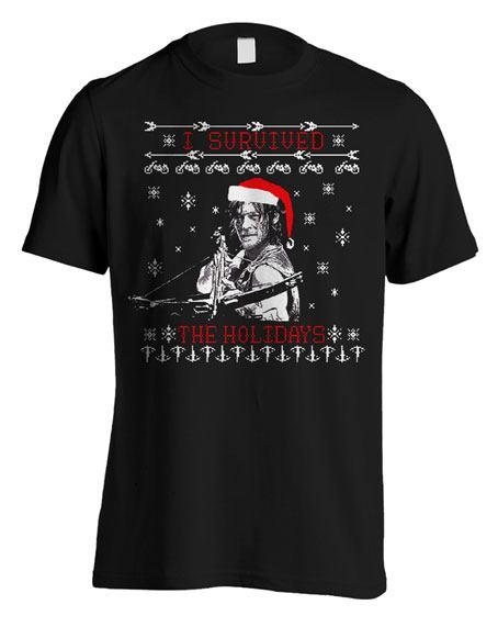 T-Shirt Walking Dead Christmas Daryl Tamanho M