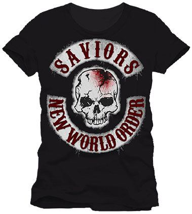 T-Shirt Walking Dead New World Order Tamanho S