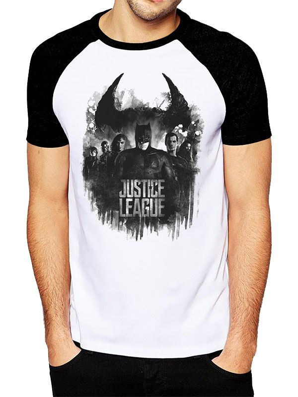 Justice League Movie T-Shirt Group & Logo Tamanho L