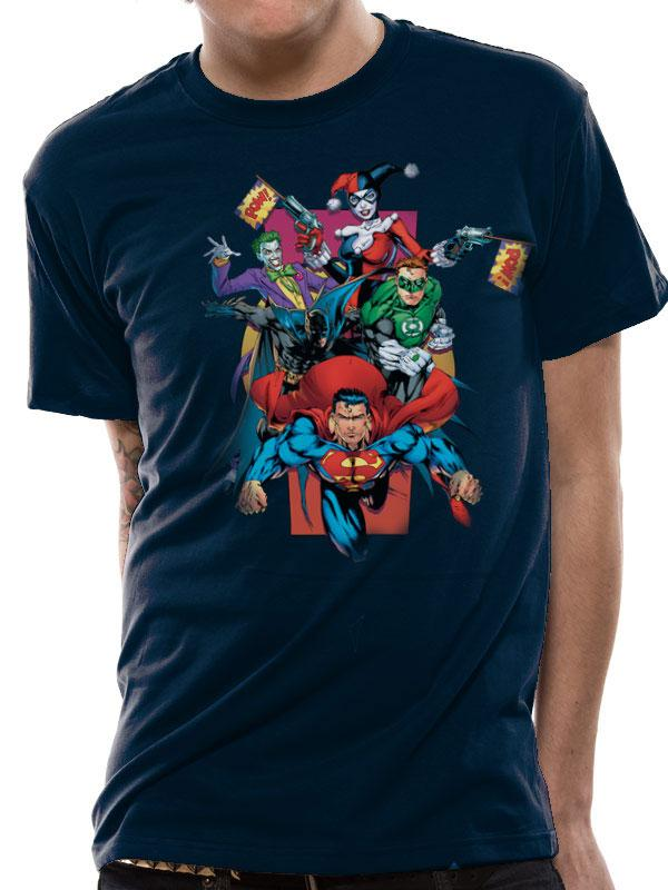 T-Shirt Justice League Pow Tamanho XL