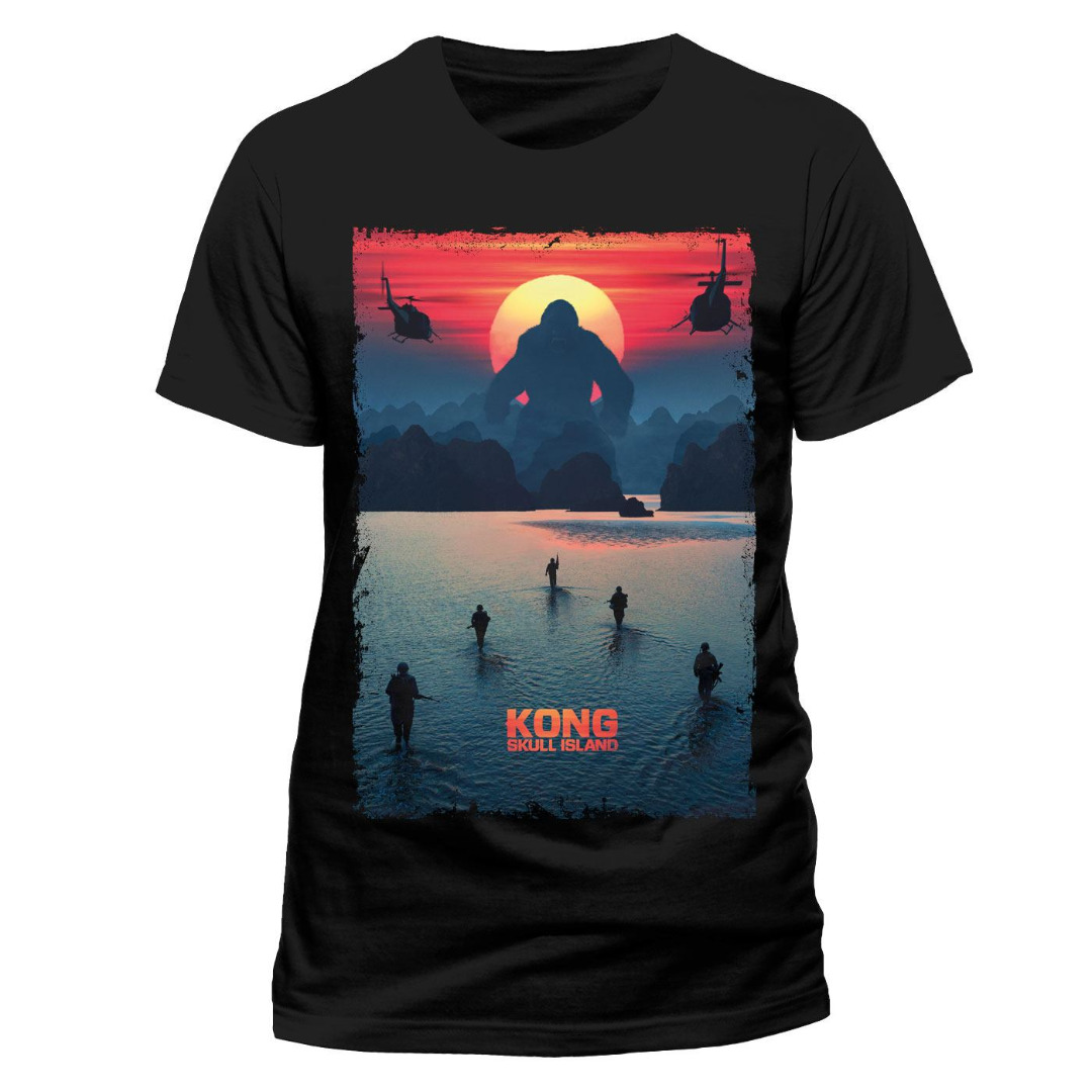 T-Shirt Kong Skull Island Poster Tamanho M