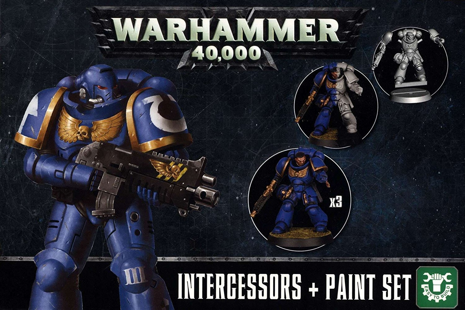 Warhammer 40,000 Intercessors + Paint Set
