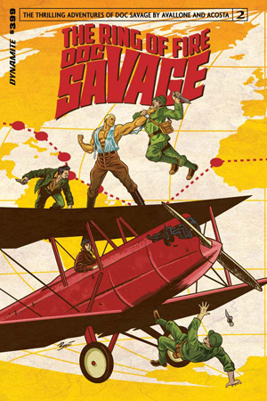 Dynamite Comics Doc Savage: The Ring of Fire #2 (Oferta de Capa Protectora)