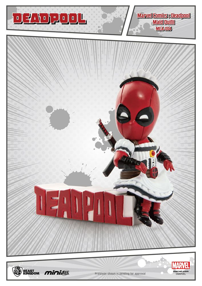 Marvel Comics Mini Egg Attack Figure Deadpool Servant 9 cm