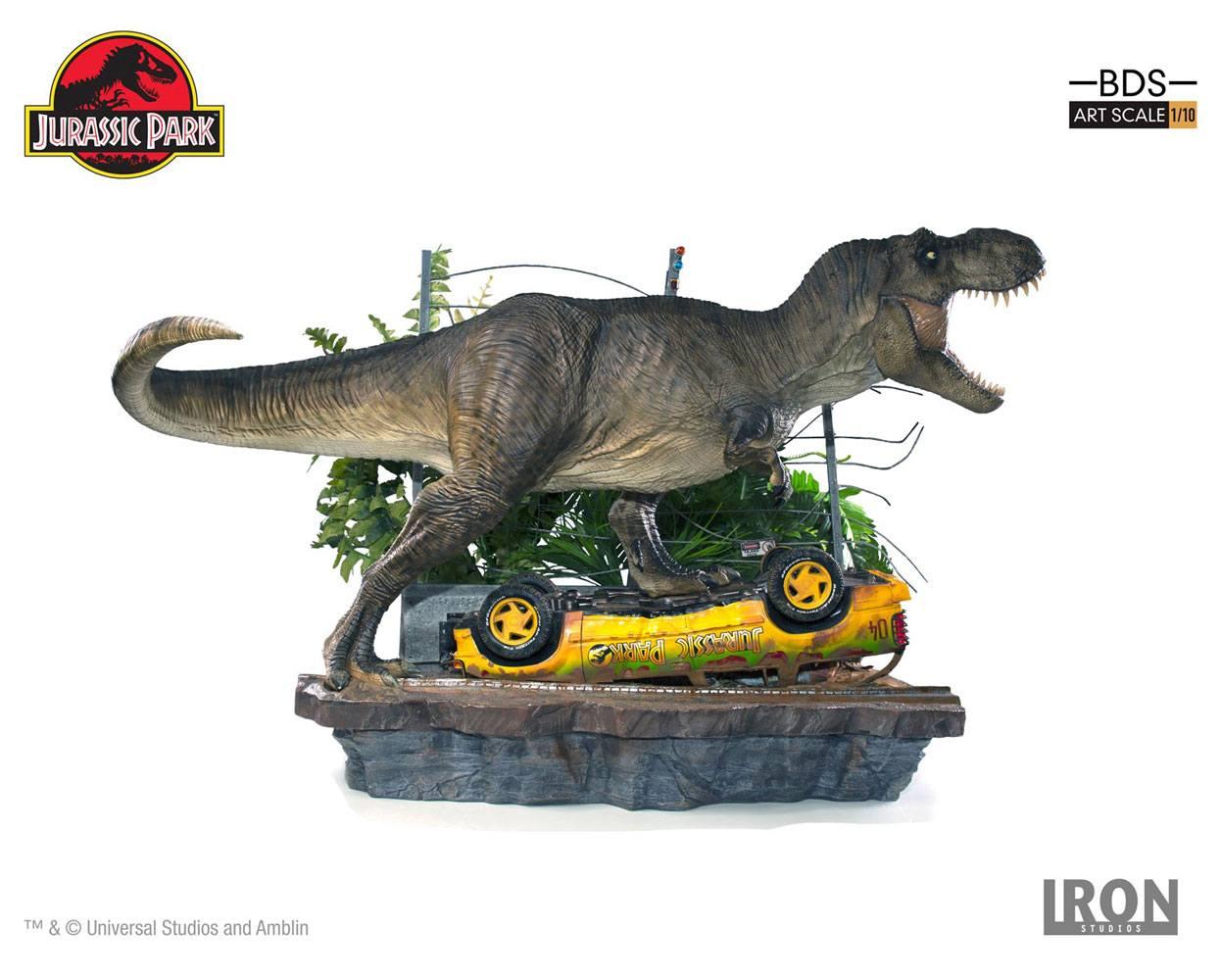 Jurassic Park Art Scale Diorama 1/10 T-Rex Attack Set A 56 cm