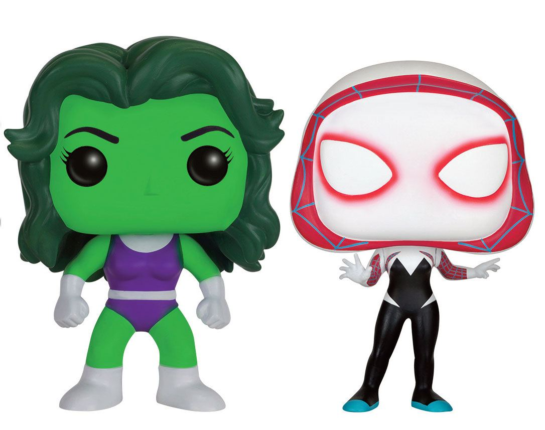 Marvel Comics POP! Marvel Vinyl Figures 2-Pack She-Hulk & Spider-Gwen 10 cm