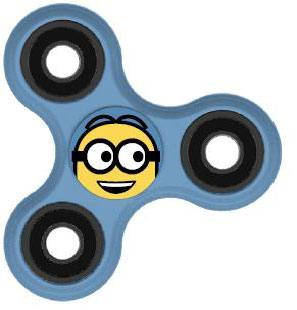 Despicable Me Fidget Spinner Minion Smile