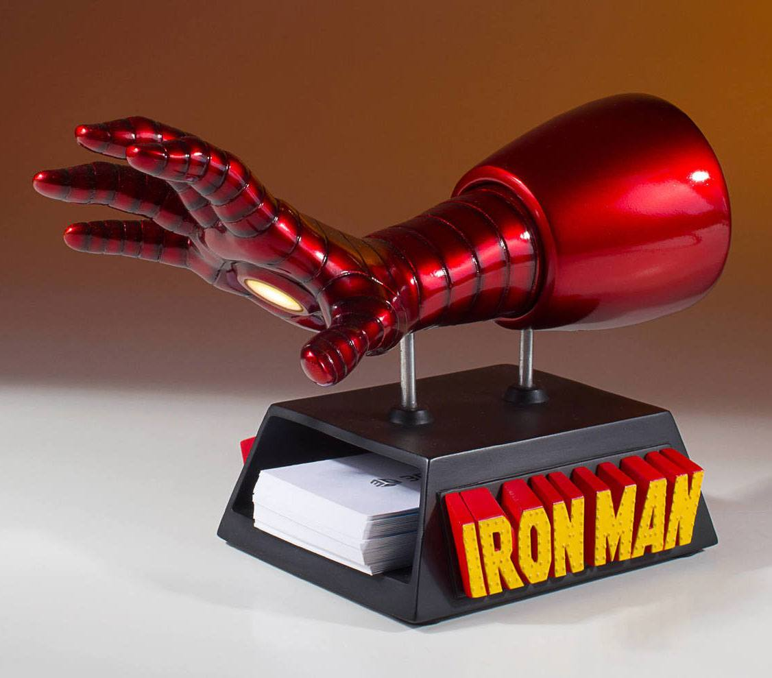 Marvel Business Card Holder / Desk Accessory Iron Man Gauntlet 12 cm