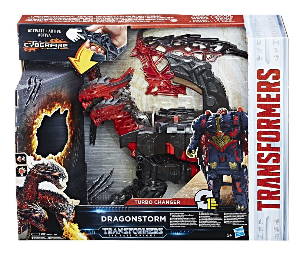 Transformers The Last Knight Turbo Changer Action Figure Dragonstorm 22 cm
