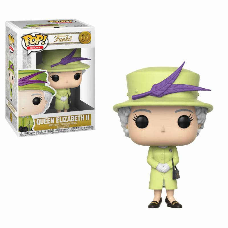 Pop! Celebs: Royal Family - Queen Elisabeth II Green Outfit 10 cm