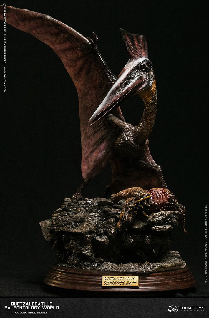Paleontology World Museum Collection Series Statue Quetzalcoatlus Red 51 cm