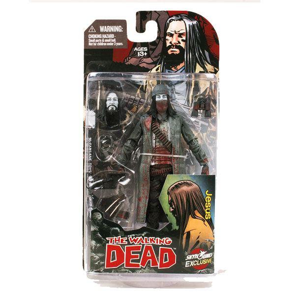 The Walking Dead Action Figure Jesus (Bloody B&W) 15 cm