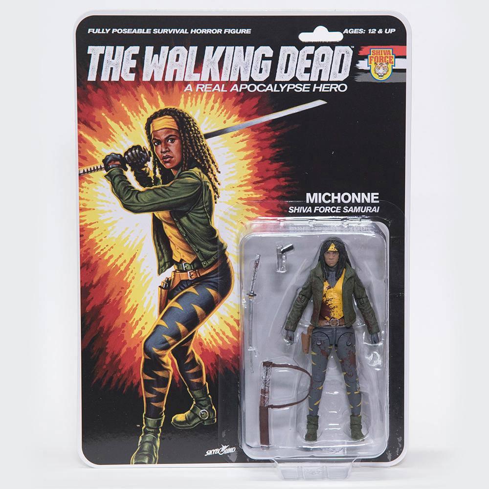The Walking Dead Action Figure Shiva Force Samurai Michonne (Bloody) 13 cm