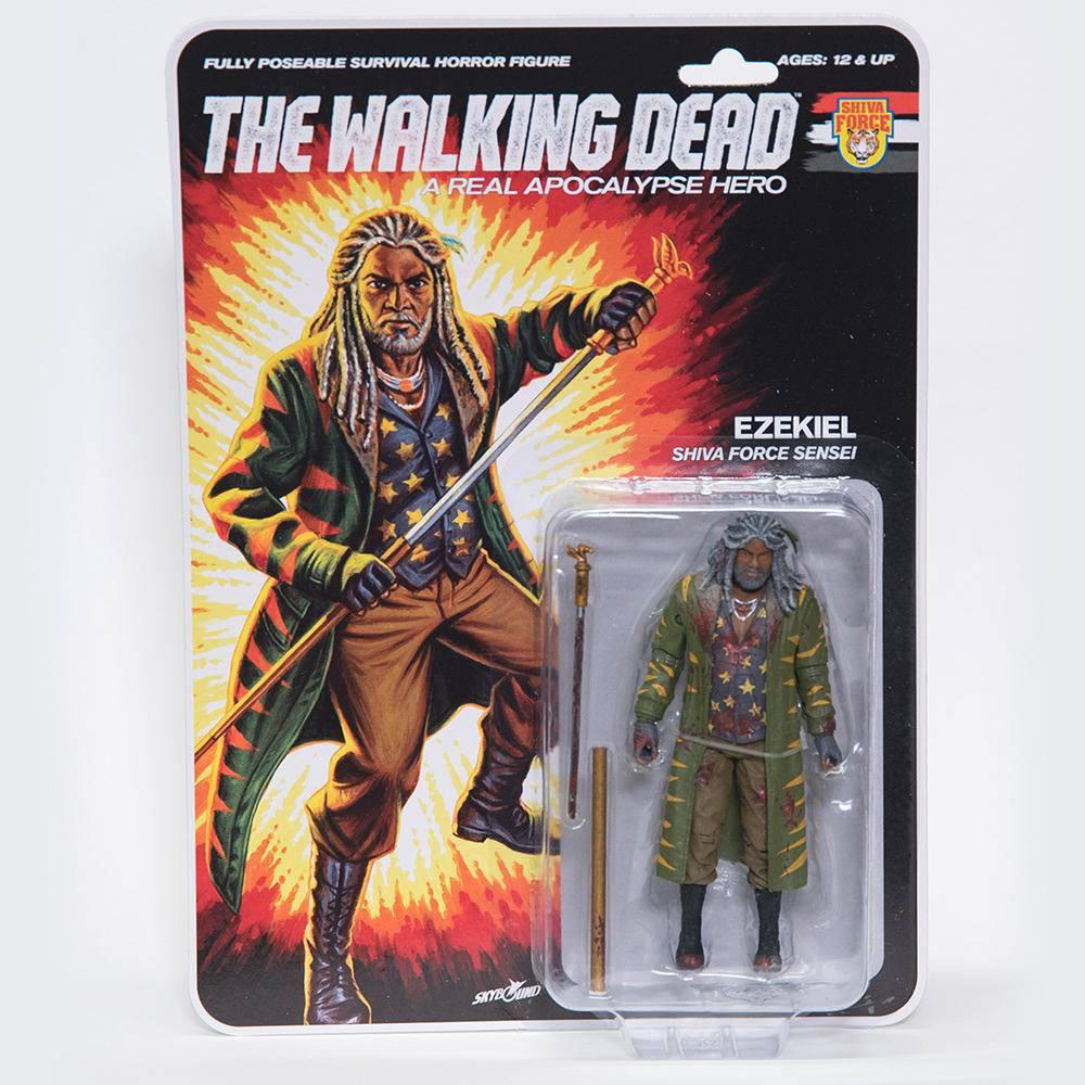 The Walking Dead Action Figure Shiva Force Sensei Ezekiel (Bloody) 13 cm