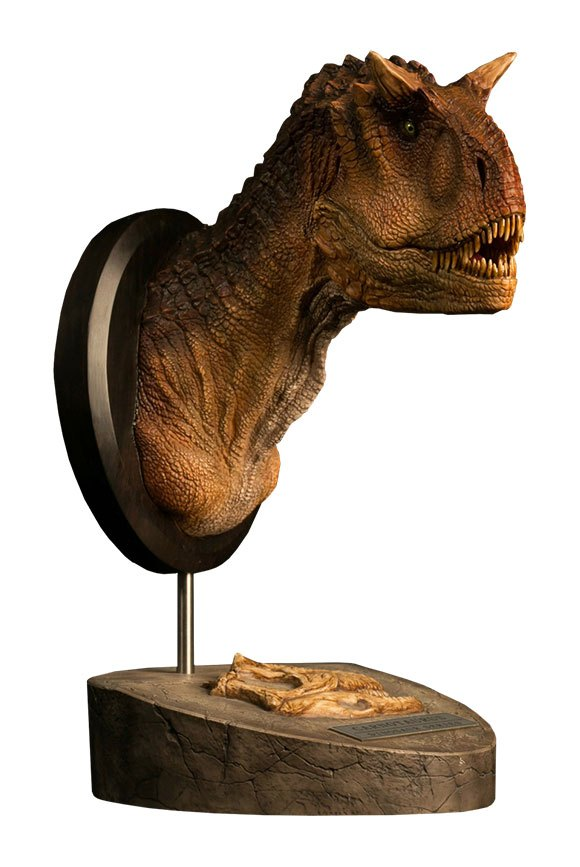Paleontology World Museum Collection Series Bust Carnotaurus Female Brown