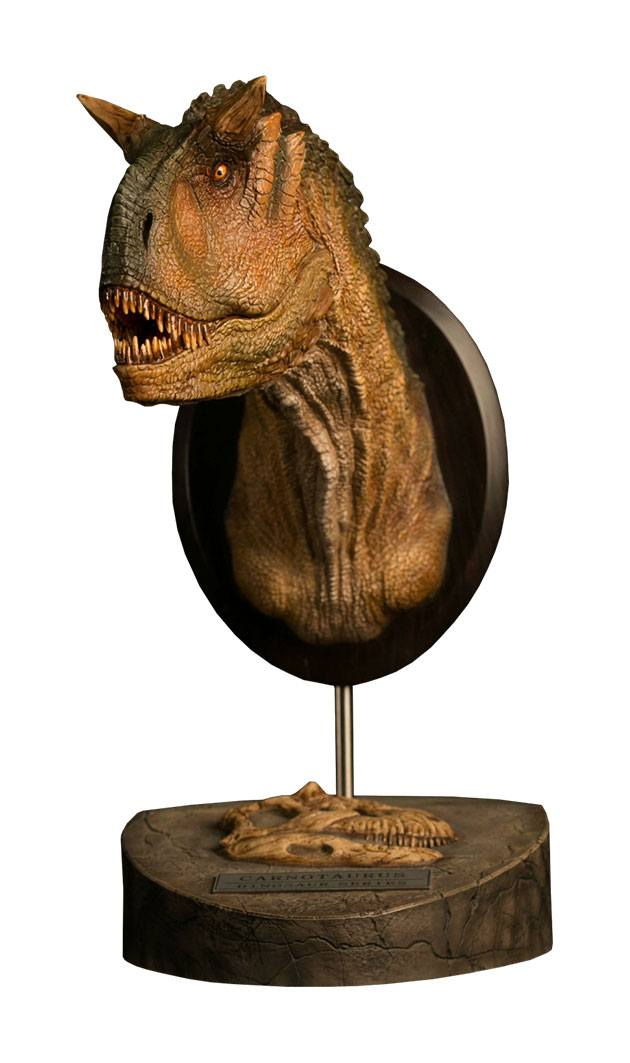 Paleontology World Museum Collection Series Bust Carnotaurus Female Green