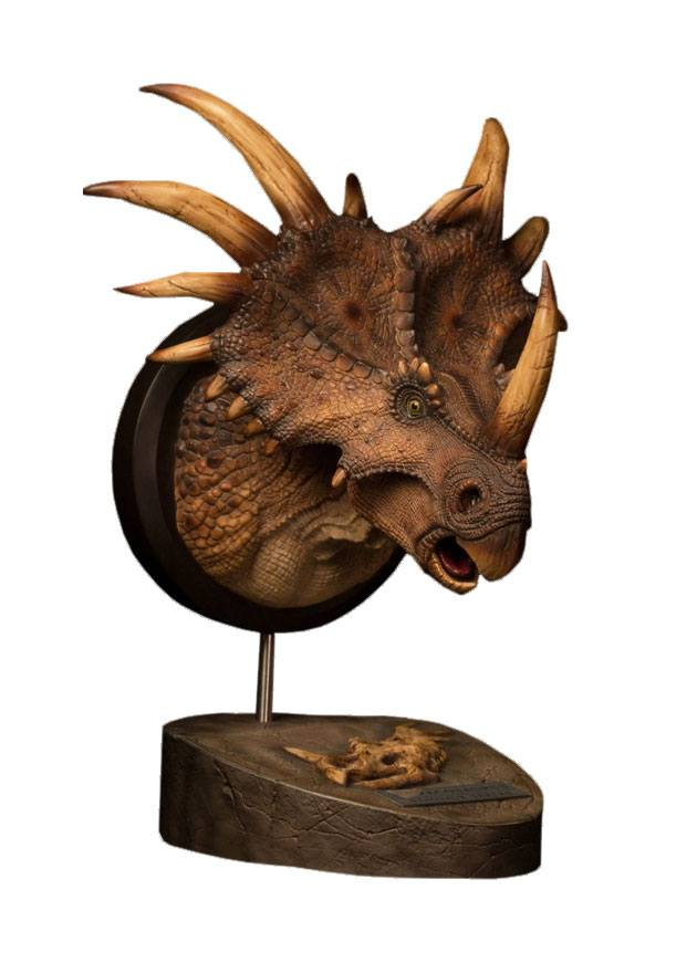 Paleontology World Museum Collection Series Bust Styracosaurus Brown 27 cm