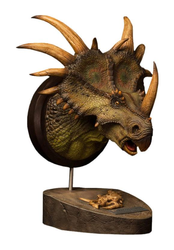 Paleontology World Museum Collection Series Bust Styracosaurus Green 27 cm