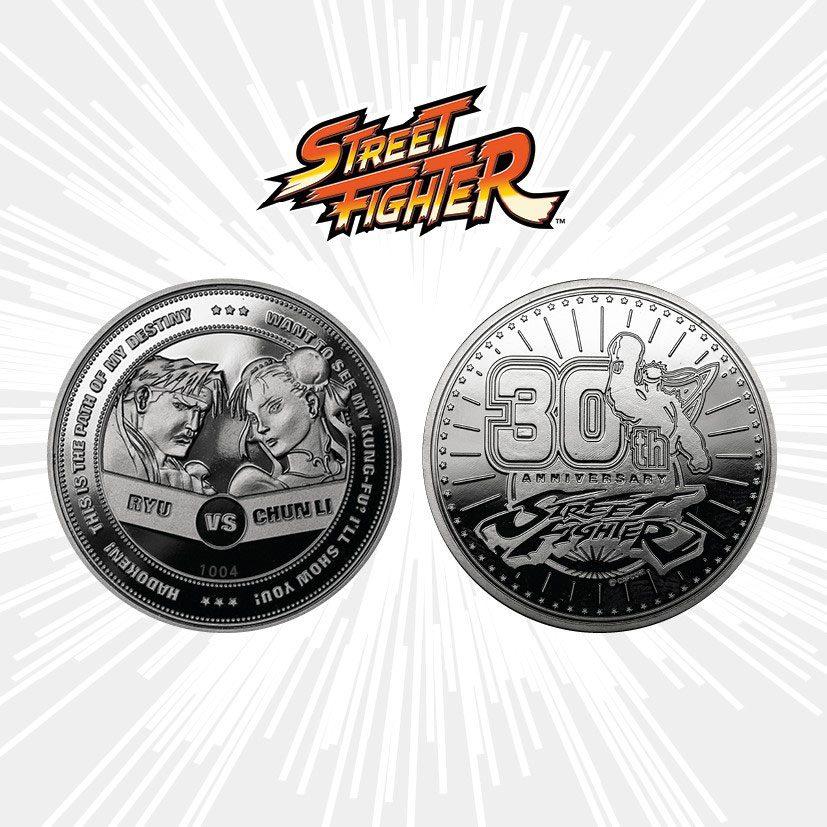 Street Fighter Collectable Coin 30th Anniversary Ryu vs Chun-Li