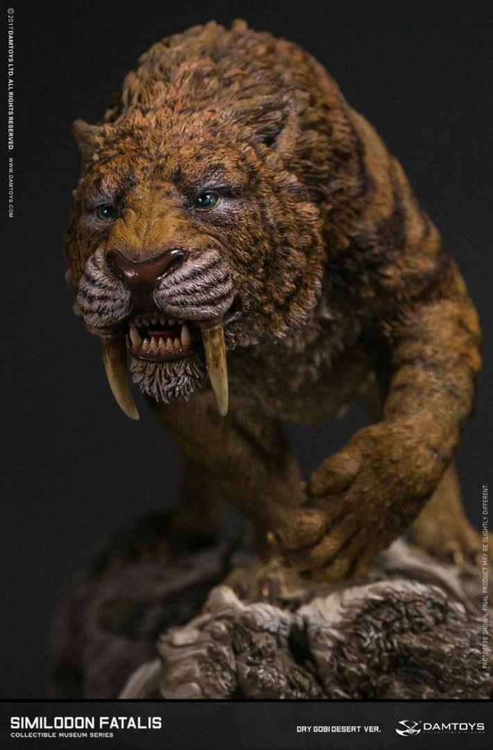 Paleontology World Museum Collection Series Statue Similodon Fatalis 28 cm