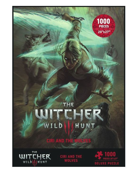 Witcher 3 Wild Hunt Puzzle Ciri and the Wolves 1000 Peças