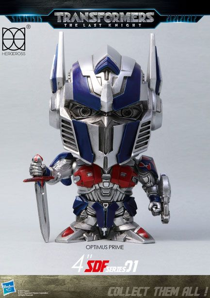 Transformers The Last Knight Super Deformed Vinyl Figur Optimus Prime 10 cm