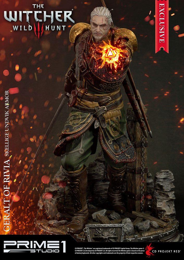Witcher 3 Wild Hunt Statue 1/4 Geralt of Rivia Skellige Undvik Armor Excl.