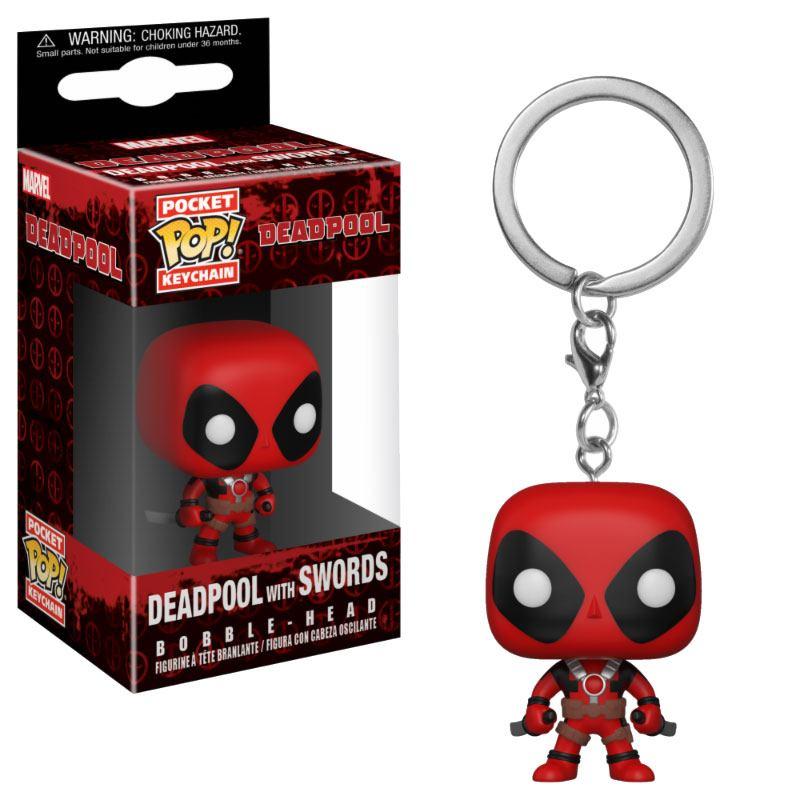 Deadpool Playtime Pocket POP! Vinyl Keychain Deadpool with Swords 4 cm