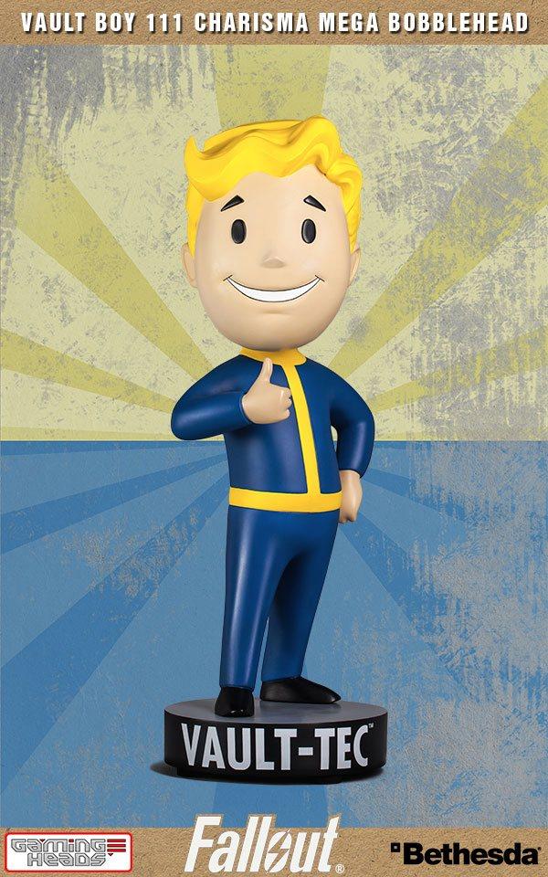 Fallout 4: Vault Boy 111 Charisma Resin Mega Bobblehead 38 cm