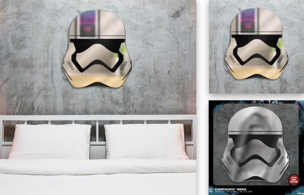 Espelho/Mirror Star Wars: Stormtrooper 40 cm