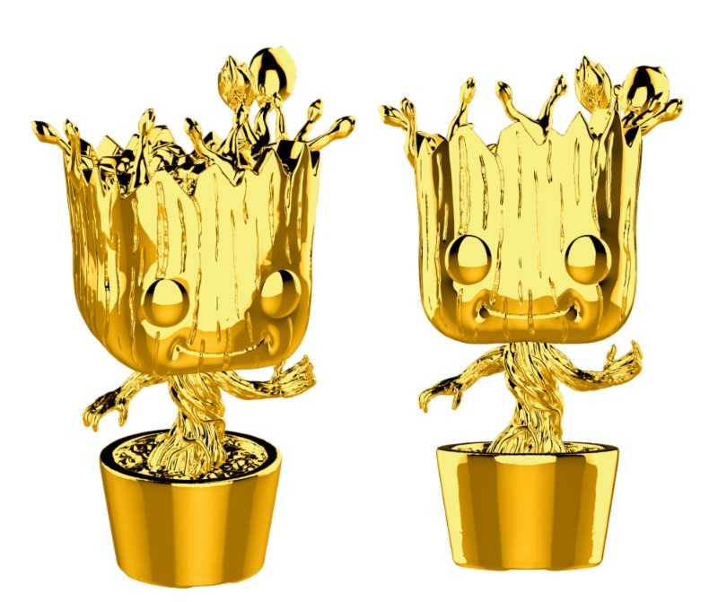 Pop! Marvel: MCU 10th Aniversary - Chrome Groot Exclusive Edition 10 cm
