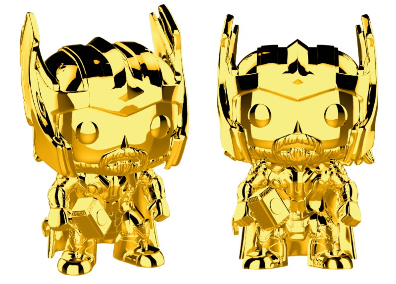 Pop! Marvel: MCU 10th Aniversary - Chrome Thor Exclusive Edition 10 cm