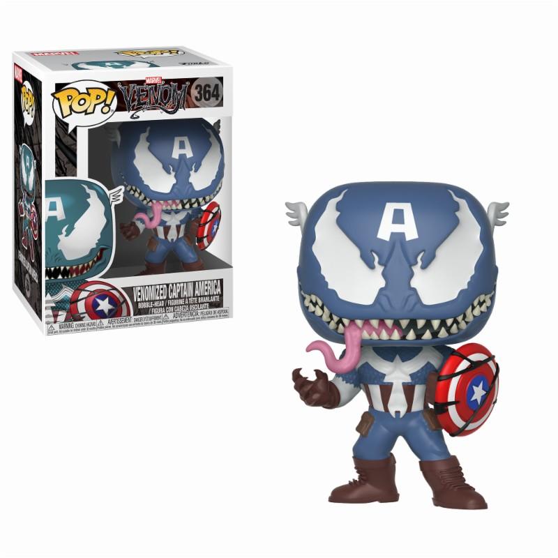 Pop! Marvel: Venom - Venom/Captain America Vinyl Figure 10 cm