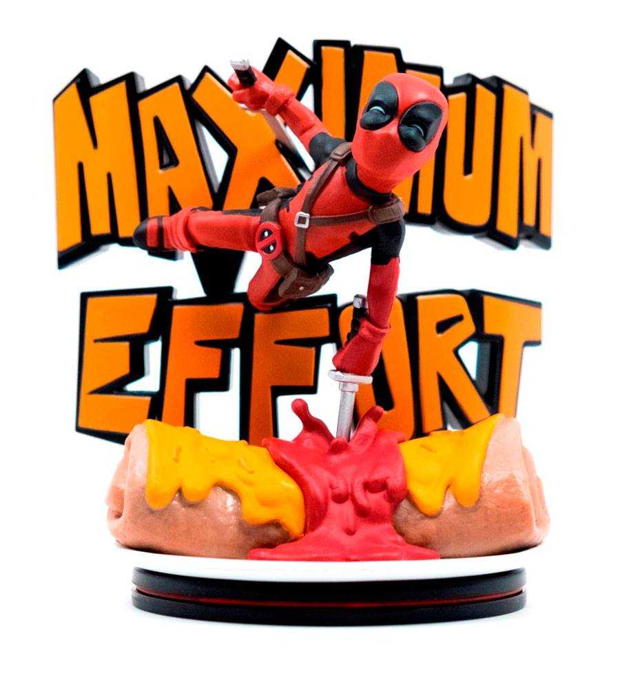 Marvel Q-Fig MAX Diorama Deadpool Maximum Effort 14 cm