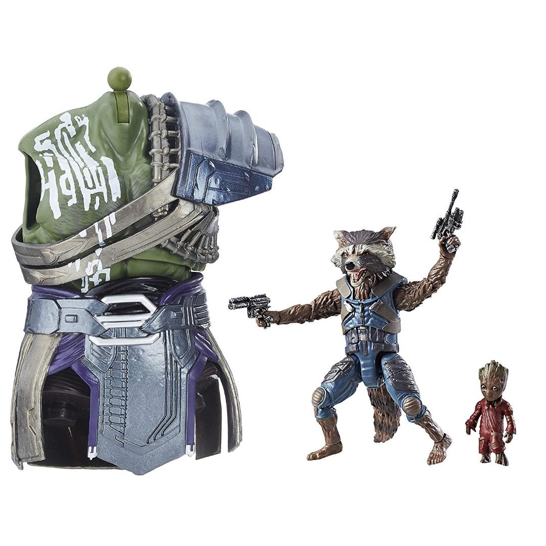 Action Figure Marvel Legends Séries - Rocket Raccoon & Groot 15 cm