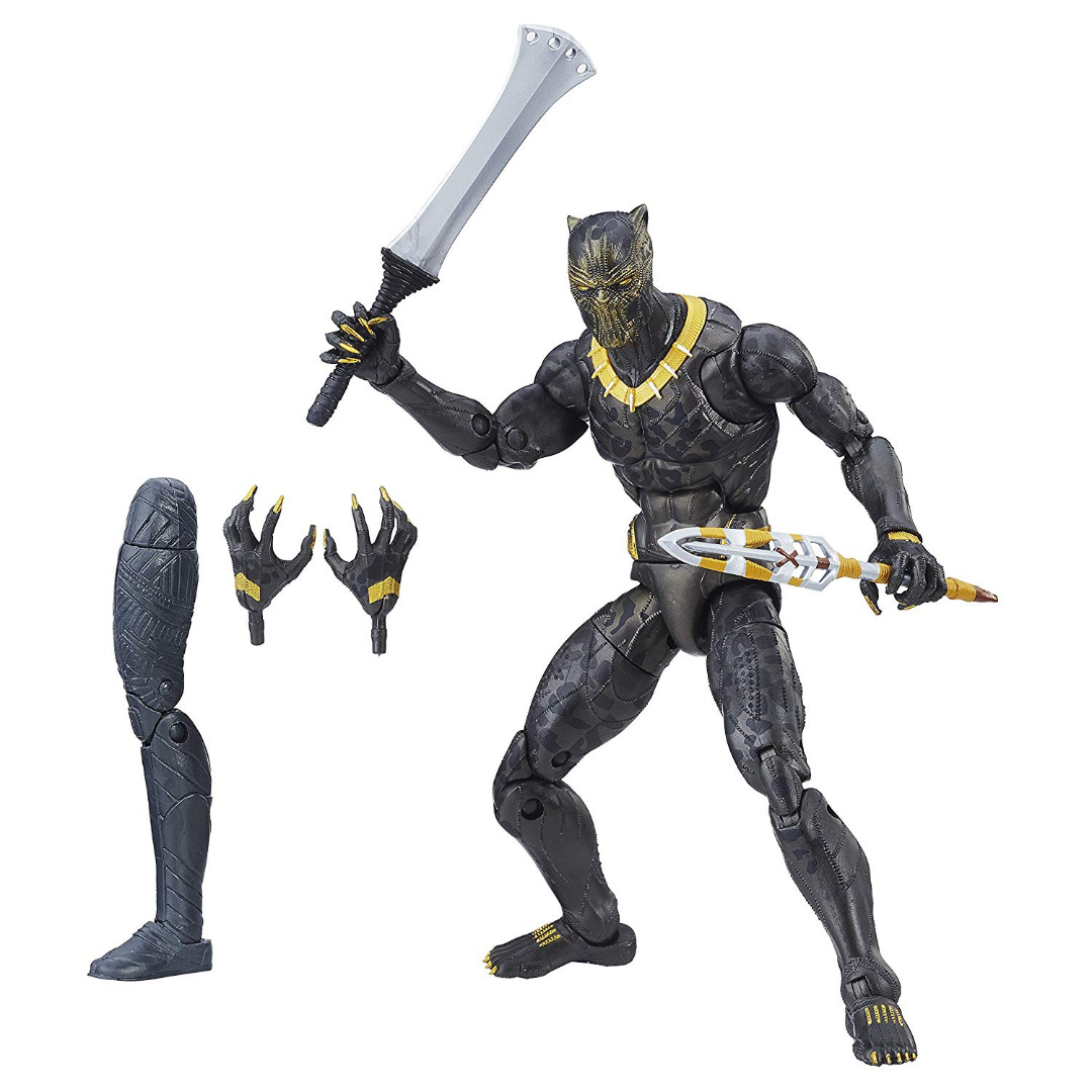 Action Figure Marvel Legends Séries Black Panther - Erik Killmonger 15 cm
