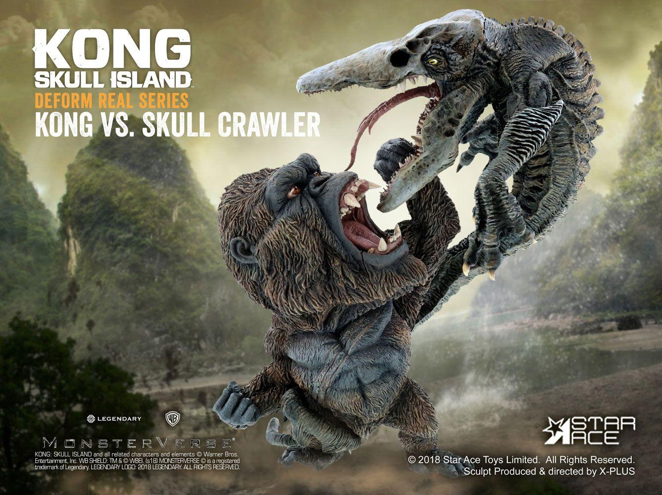 Kong Skull Island Deform Real Series Soft Statue Kong vs Crawler 23 cm