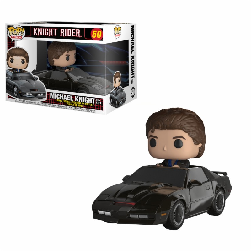 Pop! Rides: Knight Rider - Knight with Kitt Vinyl Figure 15 cm