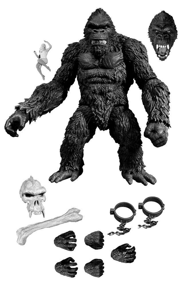 King Kong AF King Kong of Skull Island Previews Exclusive Black & White Ver