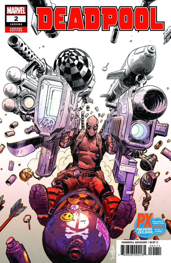 SDCC 2018 Exclusive DEADPOOL #2 Variant Cover (oferta capa protetora)