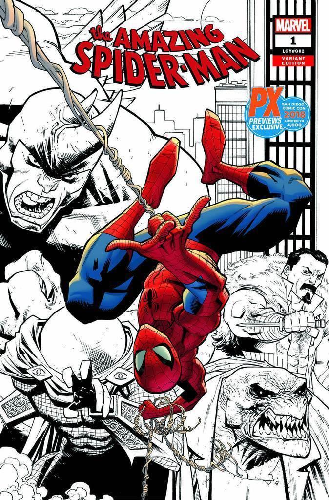 SDCC 2018 Exclusive AMAZING SPIDER-MAN #1 Var. Cover (oferta capa protetor)